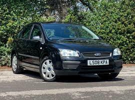 Ford Focus 1.6 lx, 2008 (08) Black 5Dr Hatchback, Manual Petrol, 105,051 miles, NEW 12 MONTH MOT