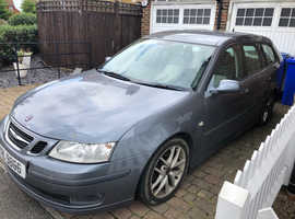 Saab 9-3, 2006 (56) Grey Estate, Vector Sports Wagon, 150bhp Automatic Diesel, 125,000 miles