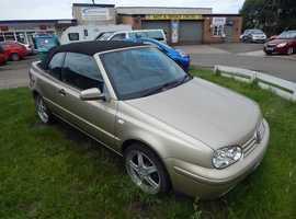 Volkswagen GOLF AVANTGARDE CABRIO, 2001 (51) Convertible , 90,000 miles