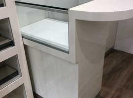 Display cabinets Cream High Gloss