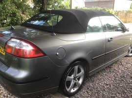 Saab 9-3, 2005 (05) Grey Convertible, Manual Petrol, 120,000 miles