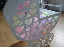 Newly designed Baby Shower Pram, also ideal for other celebrations/parties and functions