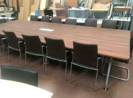 Large Executive Board Room Table & Chairs
