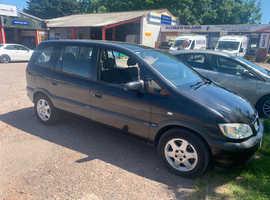 Vauxhall Zafira, 2004 (54) Black MPV, Manual Petrol, 100,963 miles