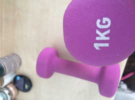 Ladies free weights 1kg