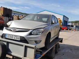 Hyundai i30, 2010 (60) Silver Hatchback, Manual Petrol, 60,000 miles