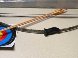 Archery bow and arrows