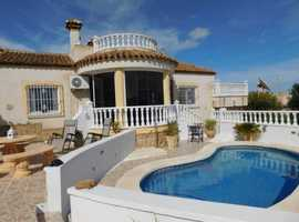 San Miguel De Salinas, Costa Blanca, Lovely Furnished Villa with Pool and Garage, 2 Solarium's and Great Views in Great Location