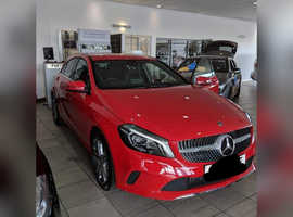 Mercedes A-CLASS, 2018 (18) Red Hatchback, Manual Diesel, 39,240 miles