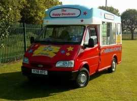 Ice cream van, hard van (scoop van)