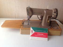 Vintage Electric Singer Sewing Machine Type 185K