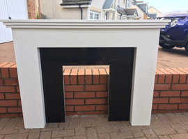 Outstanding White Composite Fire Place