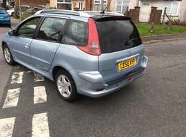 Peugeot 206, 2006 (56) Silver Estate, Manual Petrol, 99,270 miles