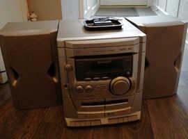 Sharp 3cd, radio and cassette deck hifi
