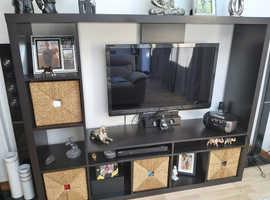 Black Wall TV Unit
