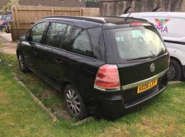 Vauxhall Zafira, 2006 (06) Black MPV, Manual Petrol, 108,224 miles