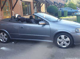 Vauxhall Astra, 2004 (54) Grey Convertible, Manual Petrol, 115,000 miles