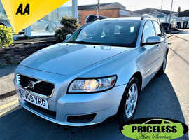 Volvo S40/V50 SERIES, 2008 (08) Silver Estate, Manual Diesel, 119,149 miles