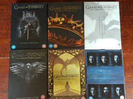 Game of Thrones seasons 1 to 6 DVDs