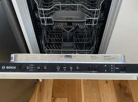 Bosch Slimline Fully Integrated Dishwasher. Used/Like New. Great Condition. £400 new