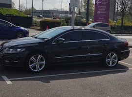 Volkswagen Cc, 2014 (64) Black Coupe, Automatic DSG TDI 2.0 BlueMotion Tech R line 84,000 miles