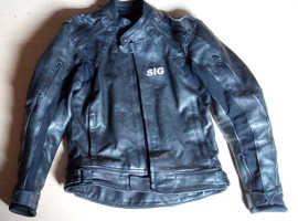 SIG Motorcycle 2 Piece Leathers - Used Good Condition