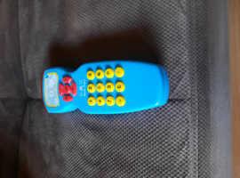 Blue toy phone