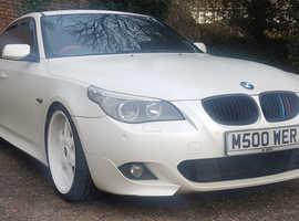 BMW 5 Series, 2006 White Saloon, Automatic Diesel, 183,000 miles