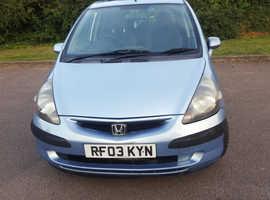 Honda Jazz, 2003 (03) Blue Hatchback, Cvt Petrol, 119,000 miles
