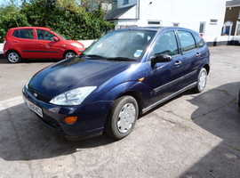 Ford Focus, 2001 (Y) Blue Hatchback, Automatic Petrol, 44,000 miles