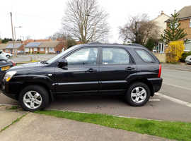 Kia Sportage, 2009 (09) Black Estate, Automatic Diesel, 66,900 miles