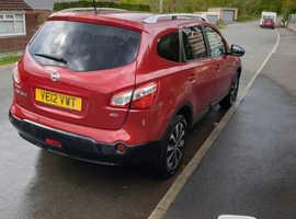Nissan Qashqai, 2012 (12) Red Hatchback, Manual Diesel, 60,946 miles