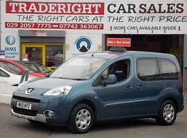 Peugeot Partner, 2012 (12) Blue MPV, Manual Diesel, 40,546 miles