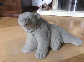 Concrete garden bear ornament
