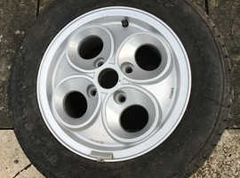 Ford escort xr3i unused wheel,never fitted.80s,rs.allow wheels
