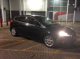 Ford Focus, 2012 (62) Black Hatchback, Manual Diesel, 105,000 miles