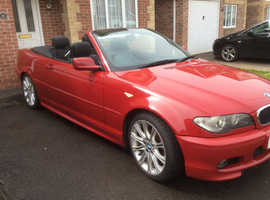 BMW 3 Series, 2006 (06) Red Convertible, Manual Petrol, 93,000 miles