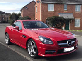 Mercedes Slk, 2012 (62) Red Convertible, Automatic Diesel, 56,348 miles