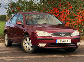 2004 (54) FORD MONDEO 2.0 GHIA X 5 Dr Hatchback in PEPPER RED Mileage Only 112,912 Miles, LONG MOT 9th September 2019