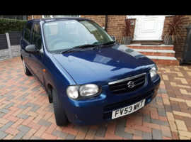 Suzuki Alto, 2003 (53) blue hatchback, Manual Petrol, 53,000 miles, 12 Months MOT, £30 1 yr Road Tax.