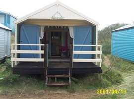 Beach hut for hire Old Hunstanton Norfolk