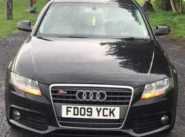 Audi A4, 2009 (09) Black Saloon, Manual Diesel, 197,459 miles