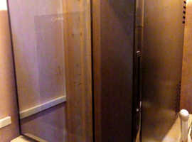 Small black Delta fridge, perfect as an extra fridge for beer or wine. Excellent condition.