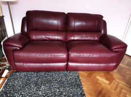 Really comfortable three seater sofa and two armchairs. Too big for my new house