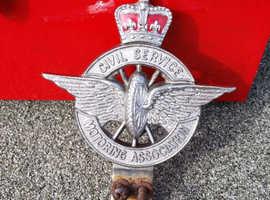 vintage car badge civil service motoring association
