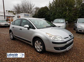Citroen C4 HDI 1.6 Litre 5 Door Diesel Hatchback, New MOT (No Advisories), 60 MPG.
