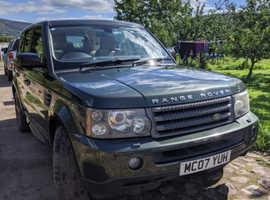 Land Rover Range Rover Sport, 2007 (07) Green Estate, Automatic Diesel, 114,000 miles