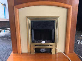 ELECTRIC WOODEN FIREPLACE