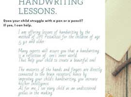 Cursive/handwriting lessons