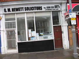 Leyton E10  For Sale shop with 2 bed flat on 1st floor and self contained micro studio or office on ground floor at rear